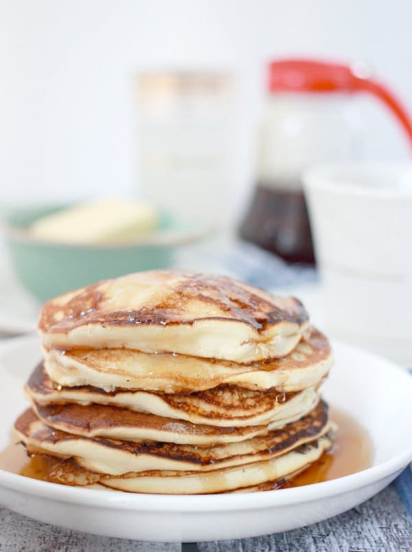 Stack of souffle pancakes- pancakes without baking powder