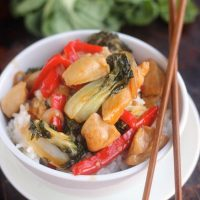 Sweet & Spicy Orange Chicken with Bok Choy