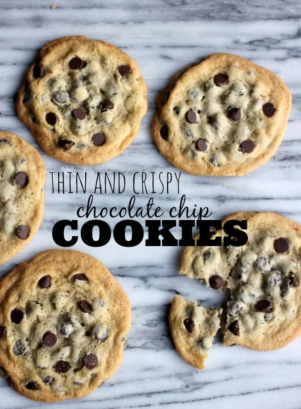 Thin and Crispy Chocolate Chip Cookies- Baker Bettie