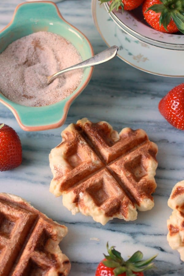 Belgian Waffle Recipe (aka Liege Waffles) made with the sweet yeast ...
