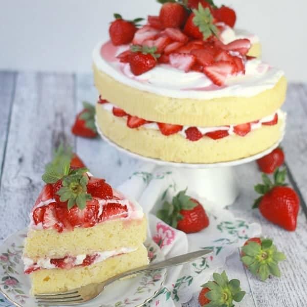 Excellent Lemon Strawberry Cream Cake Baker Bettie Personalised Birthday Cards Paralily Jamesorg