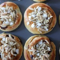 Chocolate Cinnamon Rolls with Almonds and Pearl Sugar