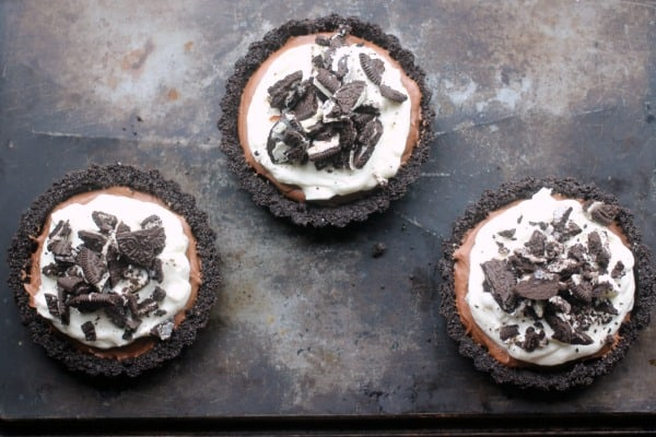 Oreo Chocolate Mousse Tartlets - Baker Bettie