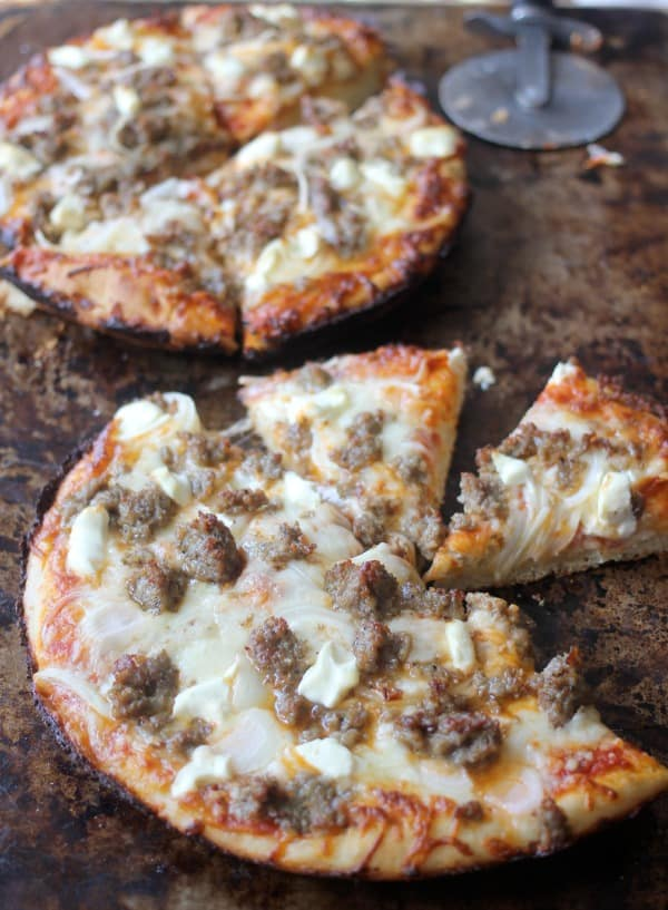 Homemade Pan Pizza with Perfectly Crispy Crust - Baker Bettie