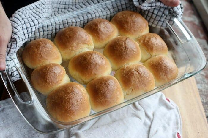 These Soft Sour Cream Dinner Rolls are the perfect way to get that slightly tangy sourdough flavor without using a sourdough starter! They have a slight crust on the outside, and are super soft, pillowy, and chewy in the middle! Best side dish to any comforting meal!