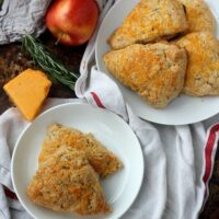 Apple Cheddar Scones with Fresh Rosemary