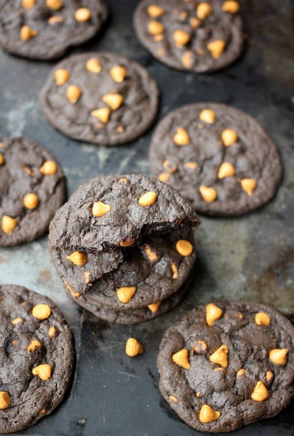 Dark Chocolate Butterscotch Cookies with Espresso- Baker Bettie