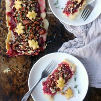 Brie Cranberry Tart with Thyme and Pecans