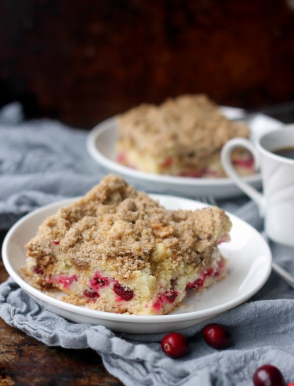 Cranberry Sour Cream Crumb Cake- Baker Bettie