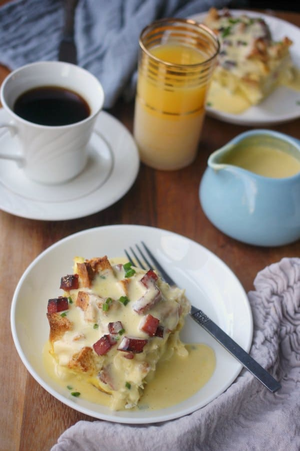 Overnight Eggs Benedict Casserole- Baker Bettie