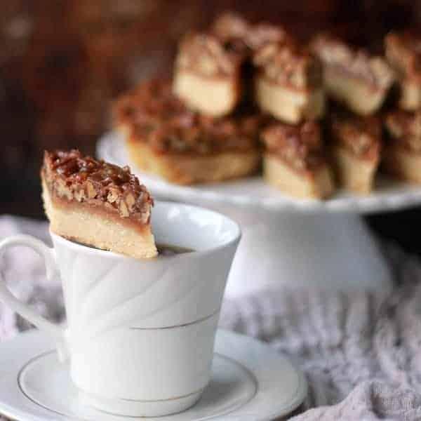 Salted Caramel Pecan Shortbread Bars