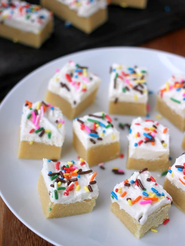 Mini Soft Sugar Cookie Bars- Baker Bettie