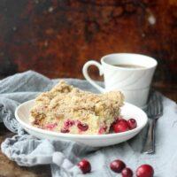 Cranberry Sour Cream Crumb Cake