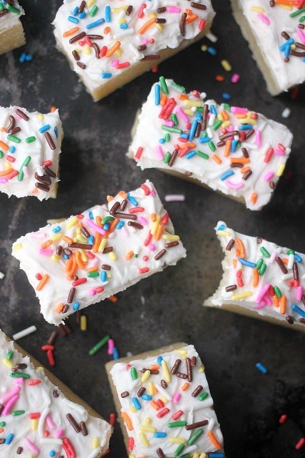 Ultra Soft Sugar Cookie Bars- Baker Bettie