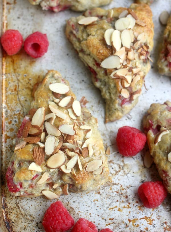 raspberry-buttermilk-almond-scones
