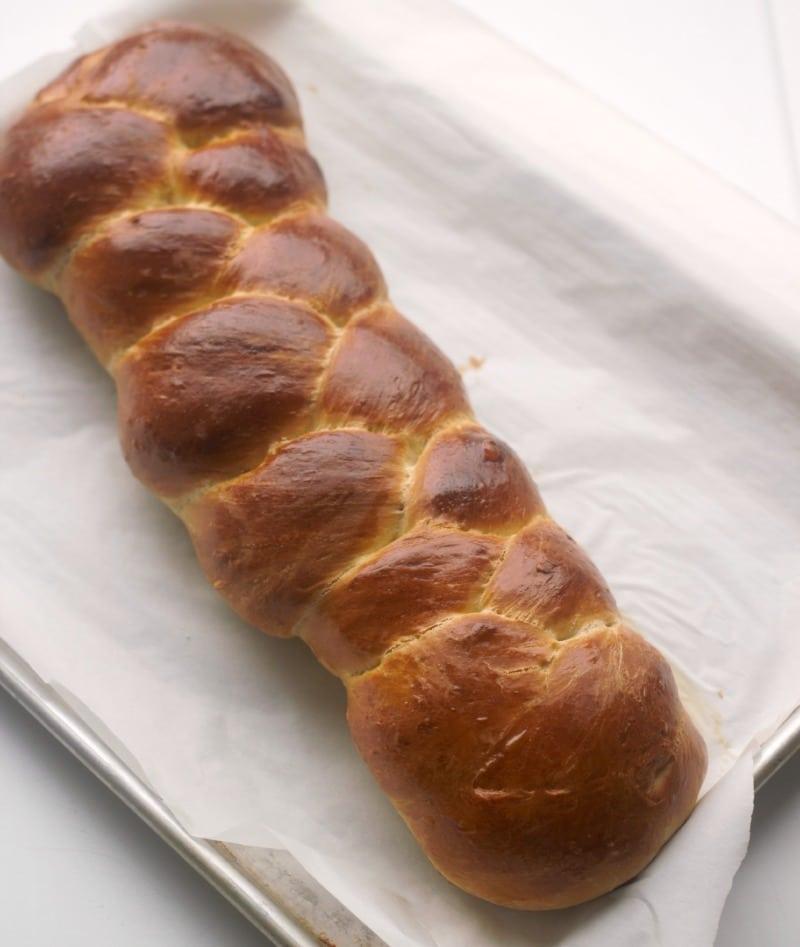 Three Braid Basic Challah Bread | Baker Bettie