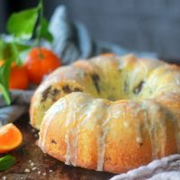 Tangerine Dark Chocolate Pound Cake