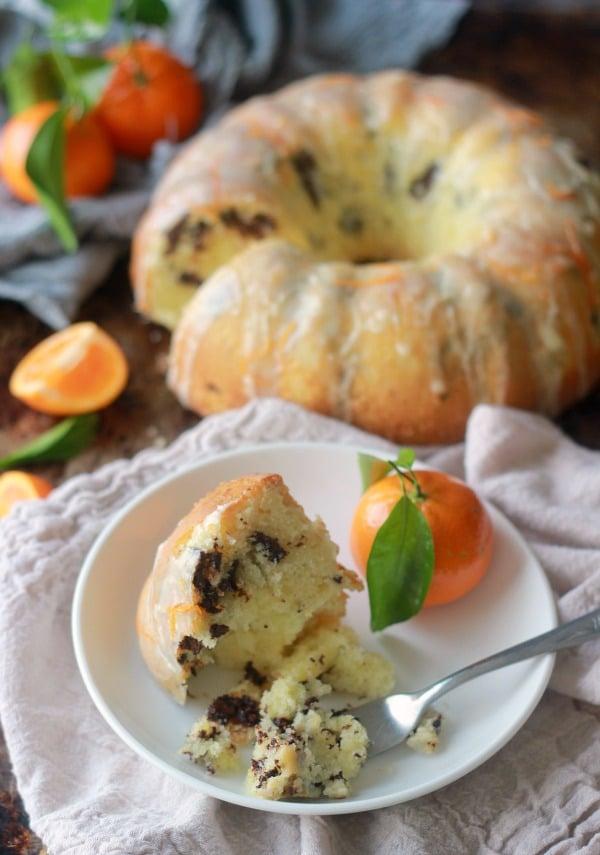 Tangerine Dark Chocolate Pound Cake | Baker Bettie