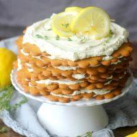 Lemon Thyme and Goat Cheese Icebox Cake
