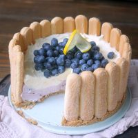 Blueberry Lemon No-Bake Cheesecake