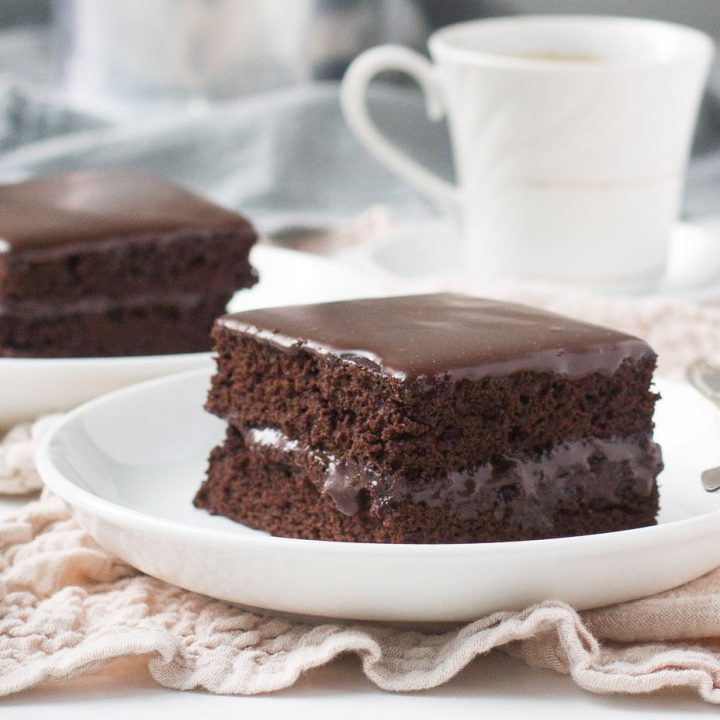 Fudgy Chocolate Sheet Cake with Fudge Glaze