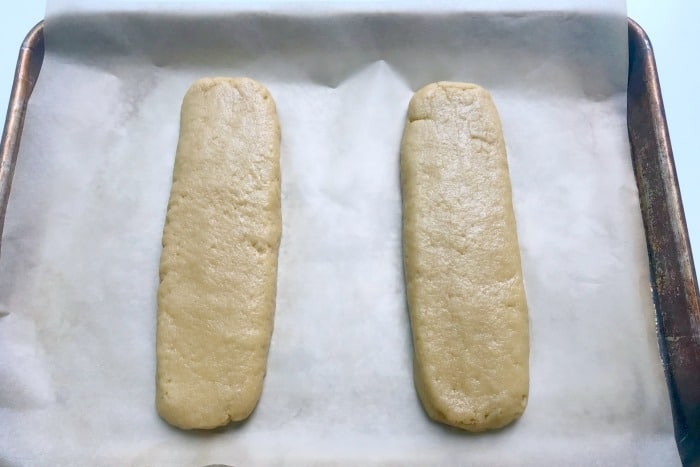 Hot to Make Biscotti: Shaping dough into logs