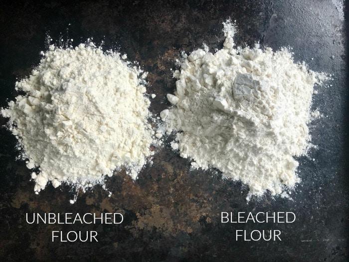Unbleached vs bleached flour
