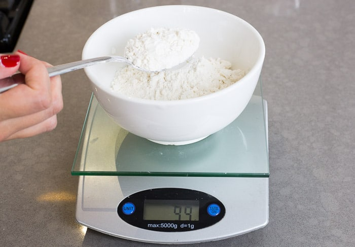Image result for Measure ingredients by weight, not volume, when baking