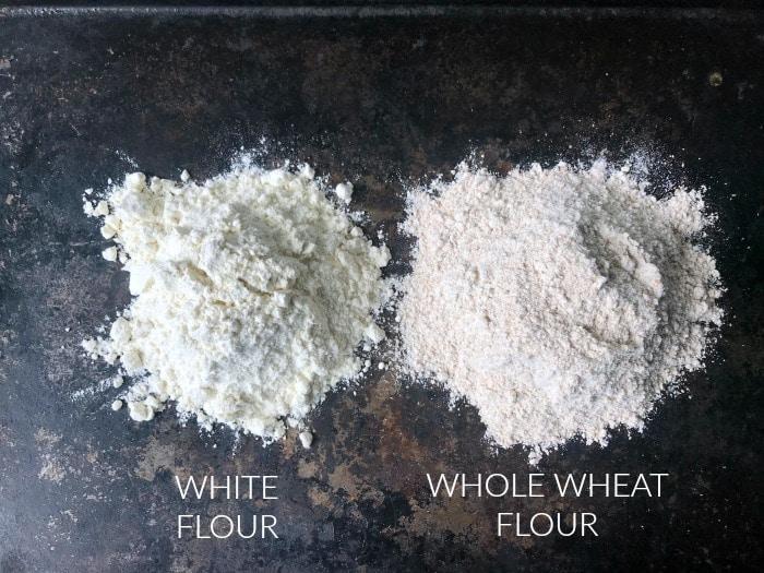 White vs Whole Wheat Flour
