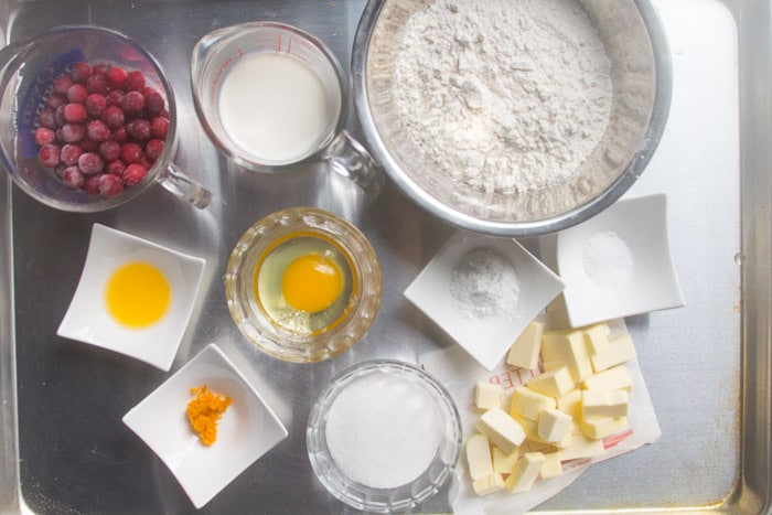 Cranberry orange scones ingredients