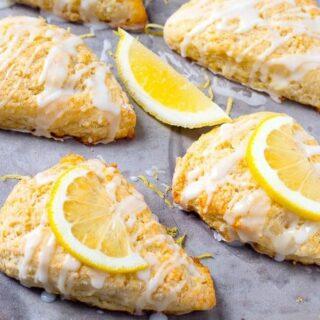 Lemon Scones with Lemon Glaze