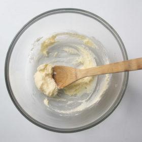 Butter, sugar creamed together in bowl