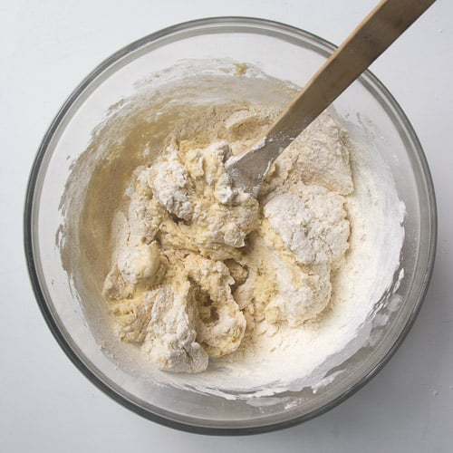 Flour added to mixture