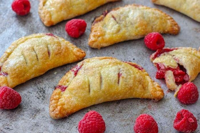 How to make Raspberry Turnovers, Hand Pies Recipe | Baker Bettie