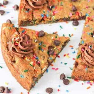 Cookie Cake Recipe with Chocolate Frosting