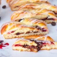 Cherry Chocolate Danish Braid