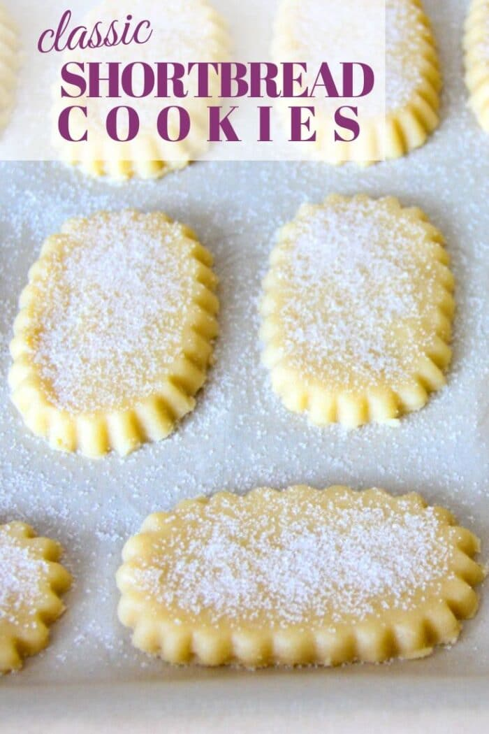 This classic shortbread cookie recipe only calls for 4 ingredients that you likely already have on hand. These old-fashioned buttery cookies are perfect on their own, or they can be dipped in chocolate, or made into a sandwich cookie!