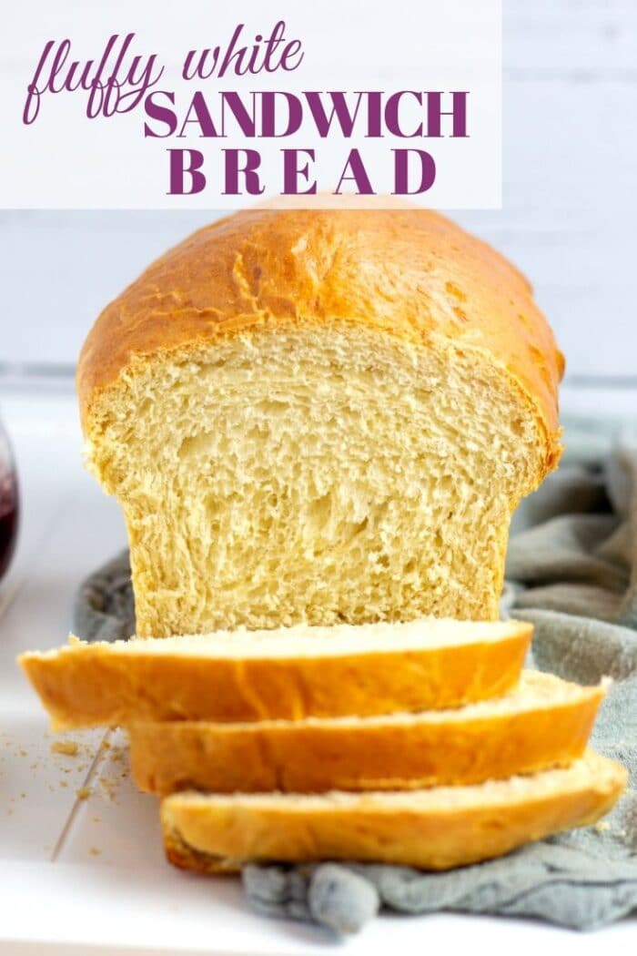 This fluffy country white sandwich bread is the perfect soft white loaf. This homemade version of your favorite store bought white bread is so much better with fewer ingredients!