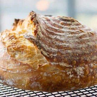 Easiest Sourdough Bread Recipe (No-Knead Sourdough)