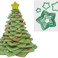 R&M International 5138 Star Tree Cookie Cutters to Make 3D Tree, 10-Piece Plastic Set