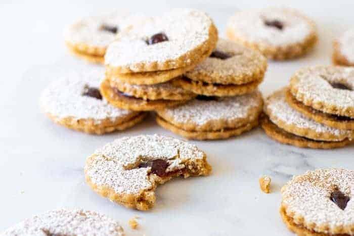 Hazelnut Linzer Cookies
