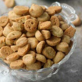 Peppernut Cookies in a bowl