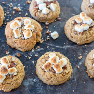 Sweet Potato Casserole Cookies (Sweet Potato Cookies with Pecans and Toasted Marshmallows)