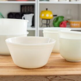 Milk Glass Mixing Bowls